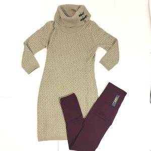 Calvin Klein Sweater Dress Outfit